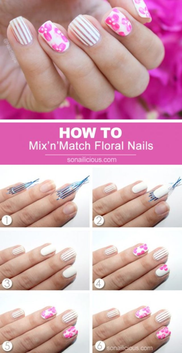 Nail Art Designs Without Using Tools
