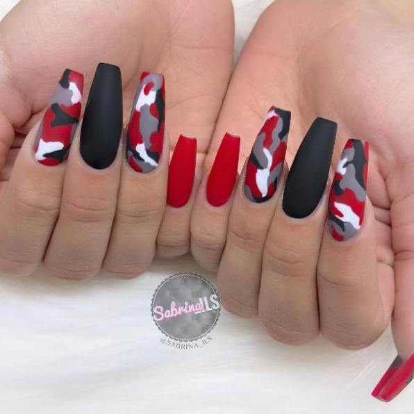 45 Stylish Red And Black Nail Designs Youll Love Home Of Beauty