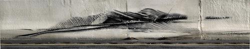 Zeimer, Tire Marks on the Jersey Barrier #1
