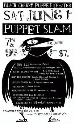 June Puppet Slam poster