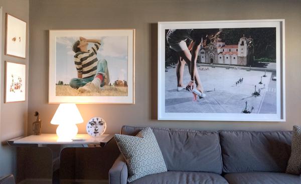 "Marcel Dzama, Untitled, 2004, Watercolor on Paper, 14 x 11"" + Marcel Dzama, Muertos Recogidos, 2004, Watercolor on Paper, 14 x 11""  + Federico Nessi, Transmute M, Spiritual Cramp Series, 2007, Archival print, edition 1/6, 30 x 36"" + Carol Brown Goldberg, Ben, 2009, Bronze, 1 of edition of 6, 11 12 x 4 ¼ x 2 ¼"" + Julia Fullerton-Batten, Gum, 2006 (from ""Teenage Stories""), Lambda print, 2 of edition of 5, Framed 58"" x 47"" x 3"""