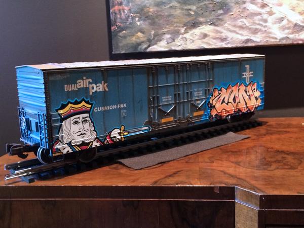 Tim Conlon. Painted/Tagged Train Boxcar, 2011