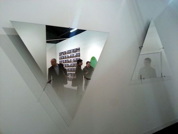 Olafur Eliasson, Hesitant movement sky and Hesitant movement up, both 2013 at Gallery Reykjavik