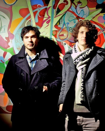 Pictured is ______ and Adam Lempel of Weekends. Courtesy of www.einsteinmusicjournal.co.nz