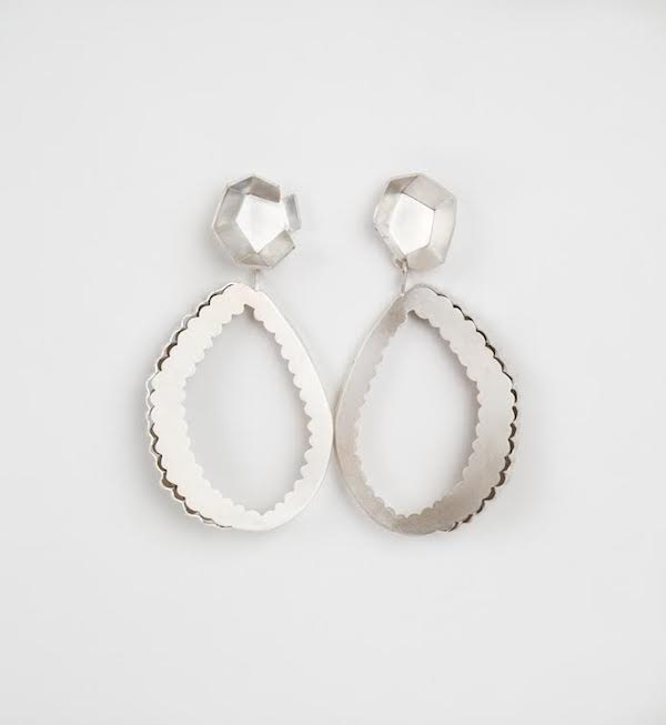 E8 McMahon, Shelly silver teardrop earrings