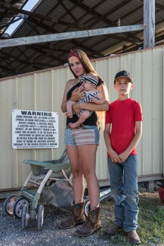 Nykie, Juliette, and Connor at the Jefferson County Fair, Hillsboro, Missouri, 2017