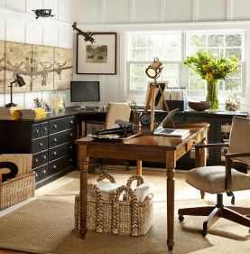 Office layout by Pottery Barn.