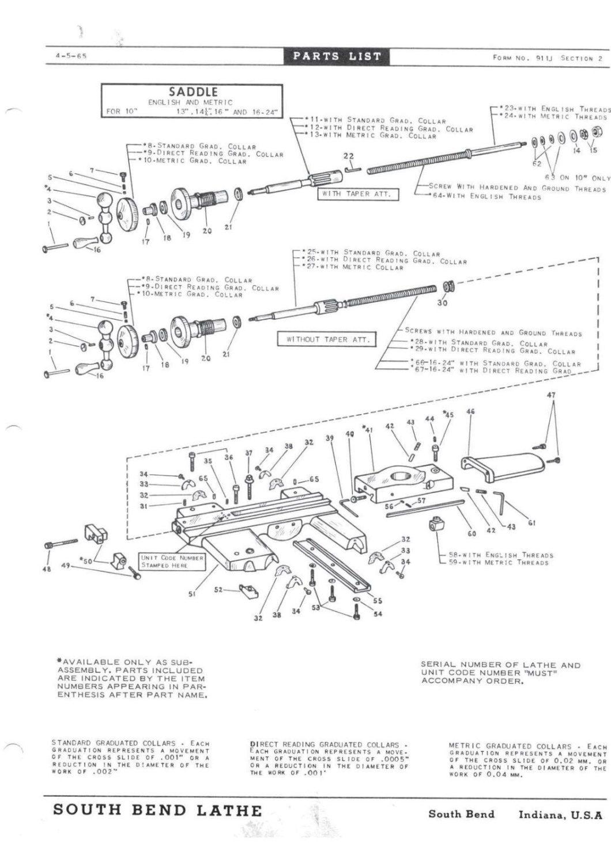 "South Bend Lathe 13/"" Cross Slide Feed Nut PT65T1"
