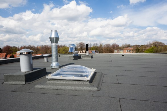 a picture of a commercial flat roof in birmingham