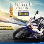 Yamaha R15 Special Edition Di jejali Sok Belakang Ohlins