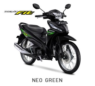 Honda Revo Fit 2018 Warna Hitam Stripping Hijau/Neo Green