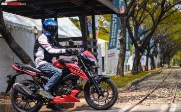 Suzuki GSX150 Bandit Merah