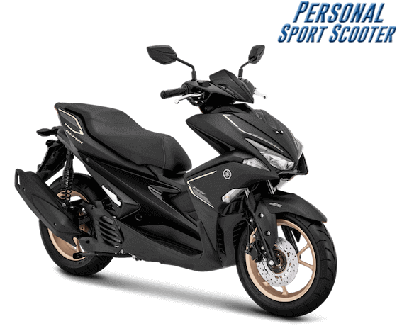 Yamaha Aerox 2019 Hitam Doff