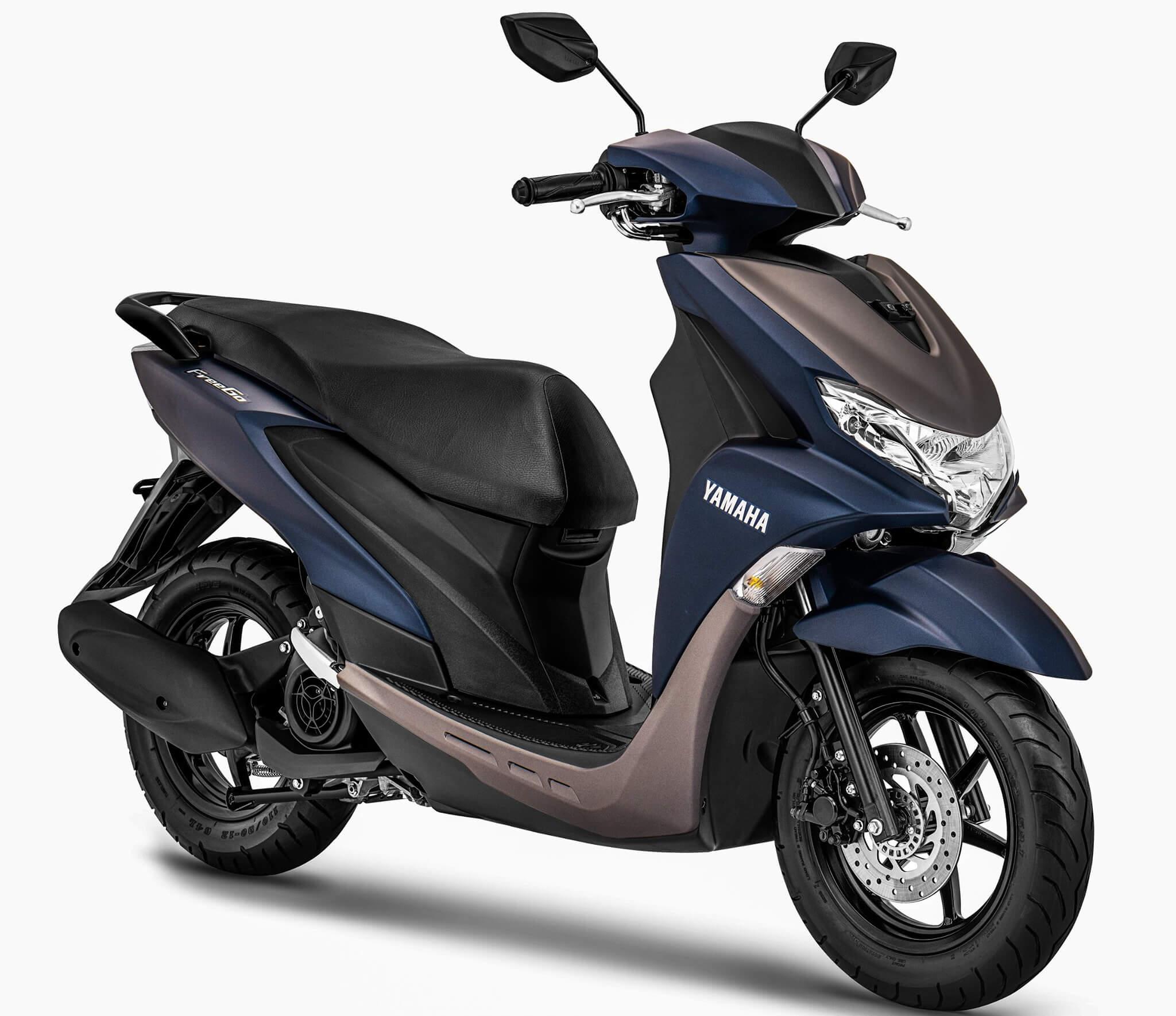 Warna Baru Yamaha FreeGo 2020 Matte Blue Grey