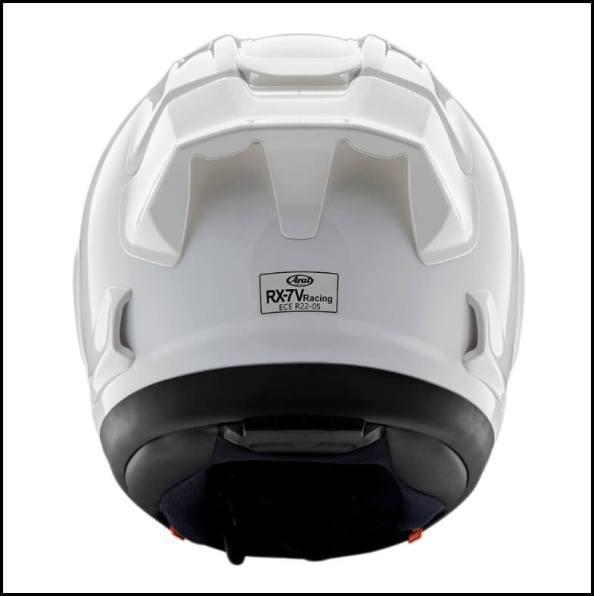 Arai-RX7X-Racing-White-Rear