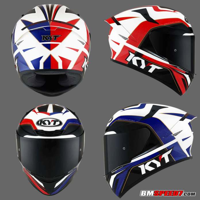 KYT TT Course Grand Prix Blue Red