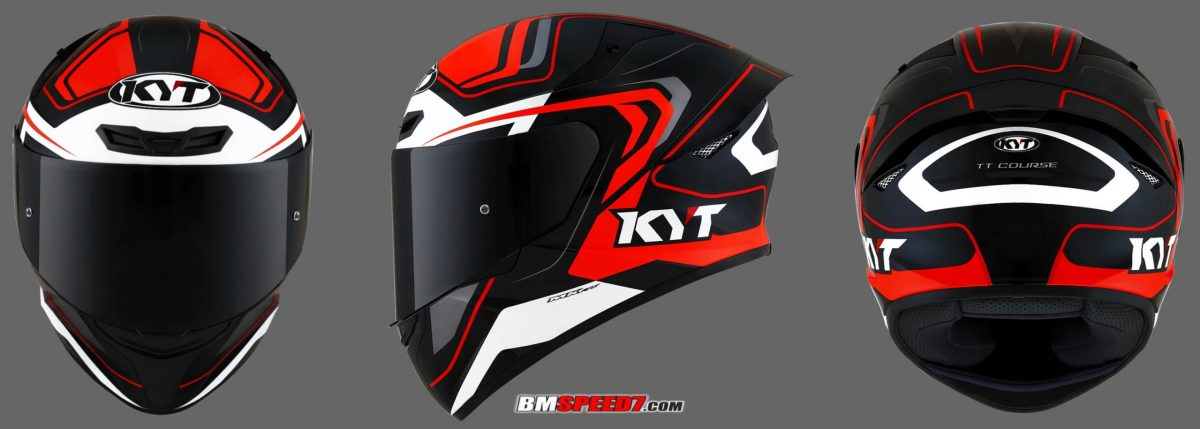 KYT TT Course Black Orange