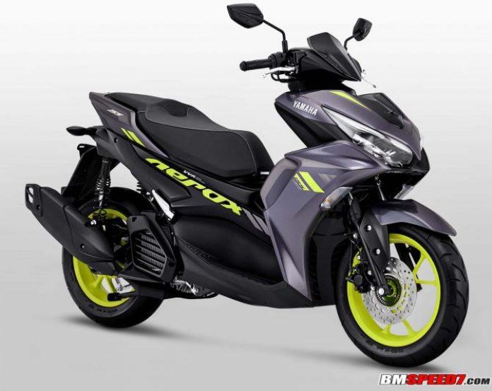 Yamaha Aerox 155 2021 Abu Abu Kuning