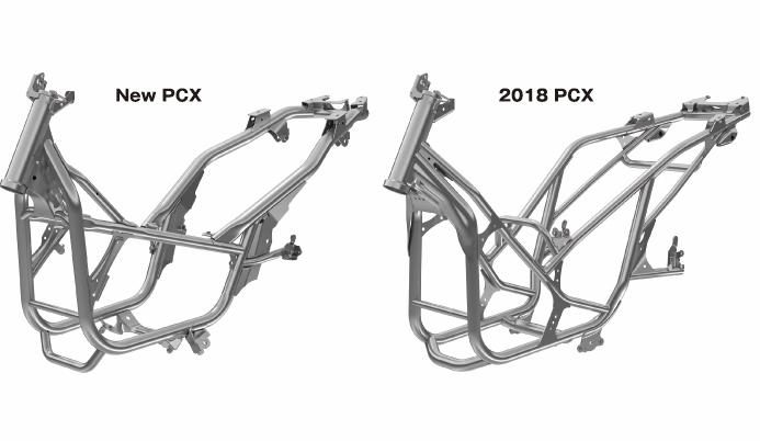 Rangka PCX 160 dan lama