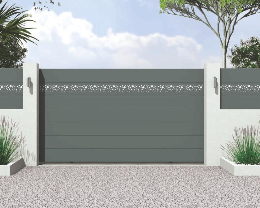 Hochwertiges Aluminiumtor der Home Serie Motiv 14