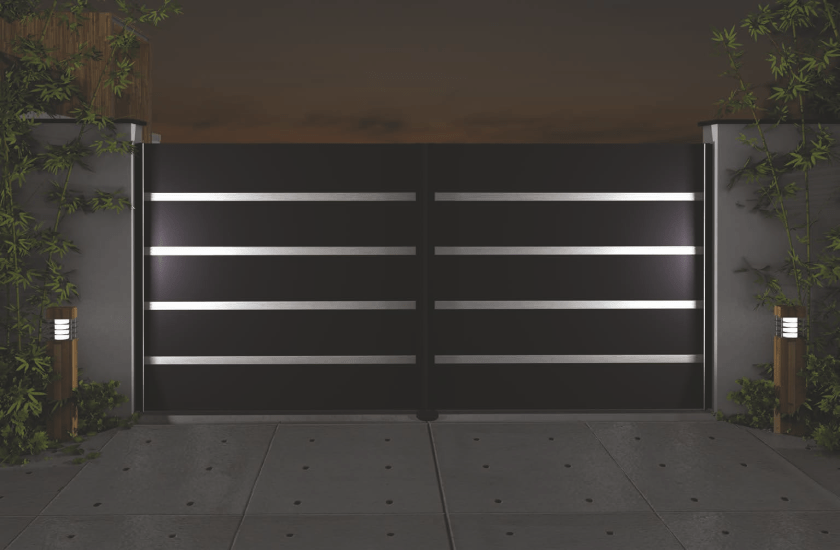 Pulverbeschichtetes Aluminiumtor der Home Serie mit LED Beleuchtung Motiv 21 19