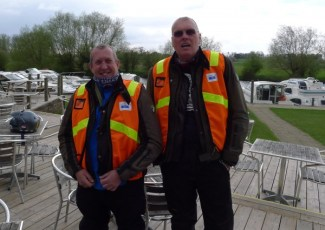 John Ottaway and Mick Elvin Ride Leader and Tail