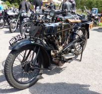 07 AJS Dug up in a graden Brackley Festival of Motorcycling 20140817