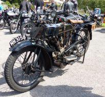 07 AJS Dug up in a graden Brackley Festival of Motorcycling 20140817