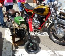 14 Little & Large powered by chainsaw engine Brackley Festival of Motorcycling 20140817
