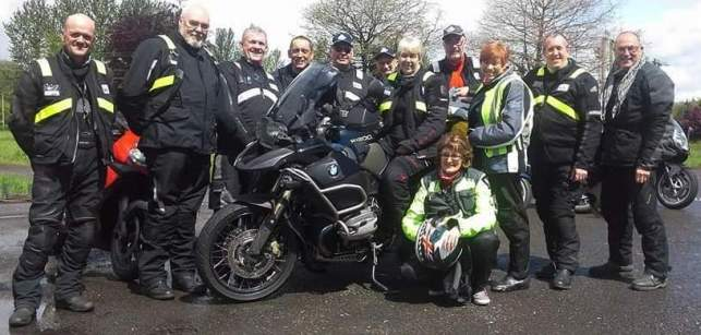 John Ottaways ride to Brecon grp at Owls Nest tea room 20160522
