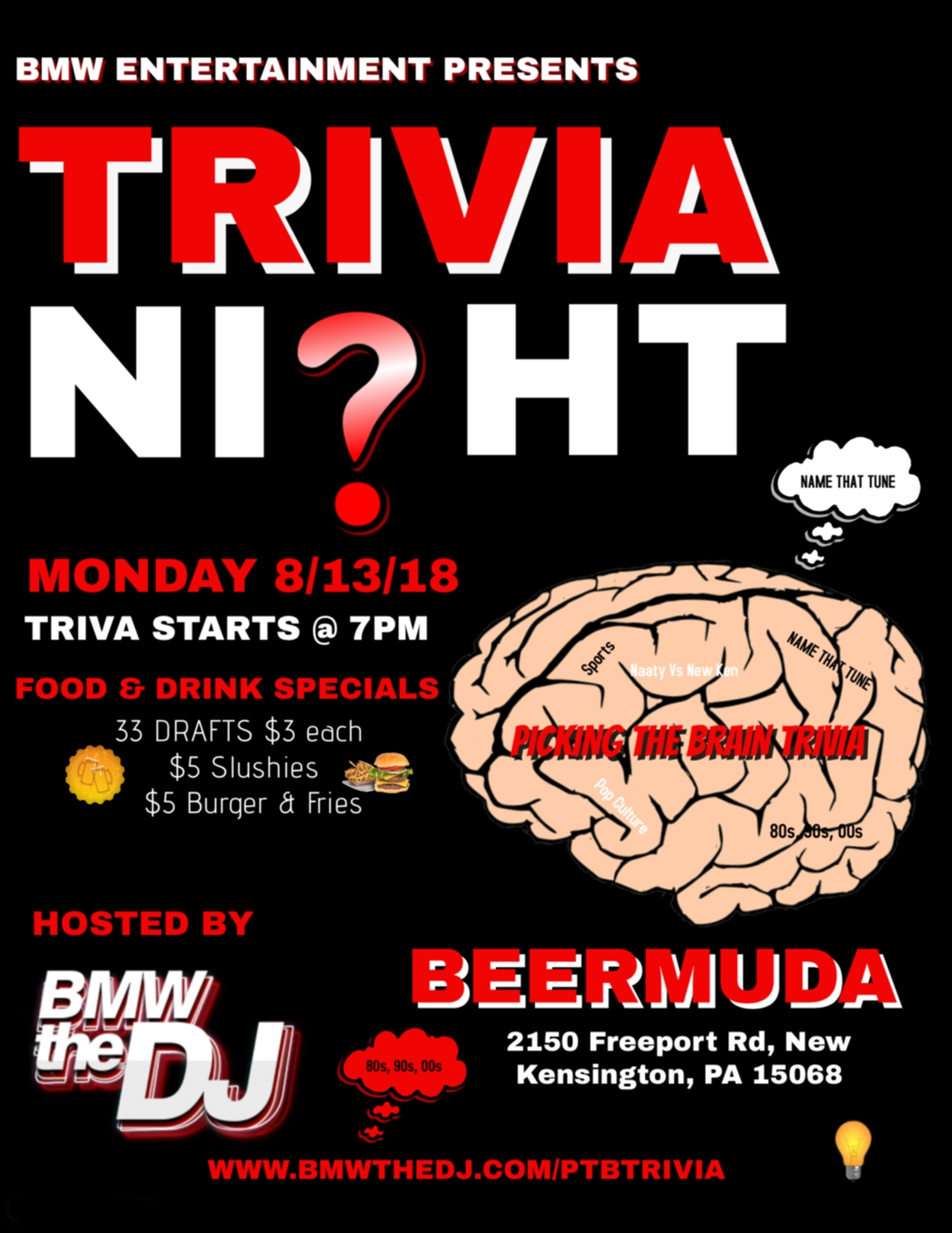 BMW Entertainment Presents: Picking The Brain Trivia