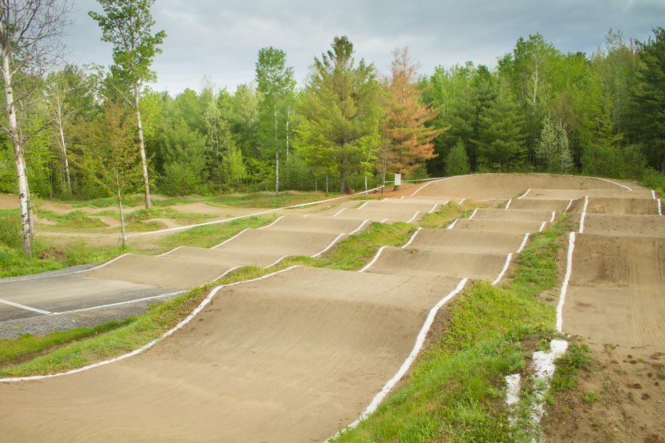piste de BMX construite au Centre National de Cyclisme de Bromont par BMXpert
