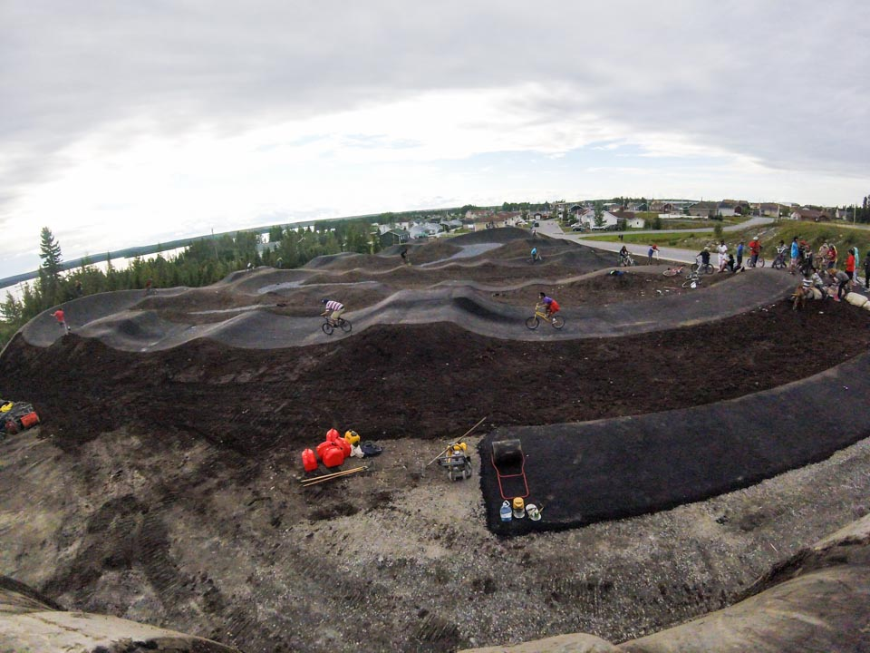 Construction, conception et aménagement de la piste de BMX à Mistissini