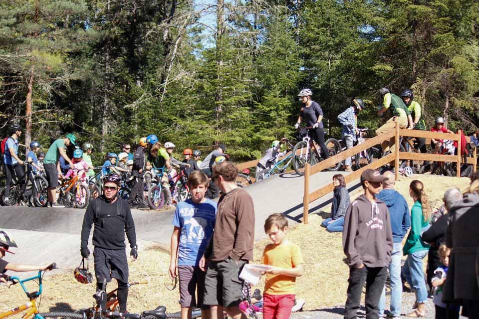 Piste de BMX Recréative (pumptracks) de tremblant au Québec