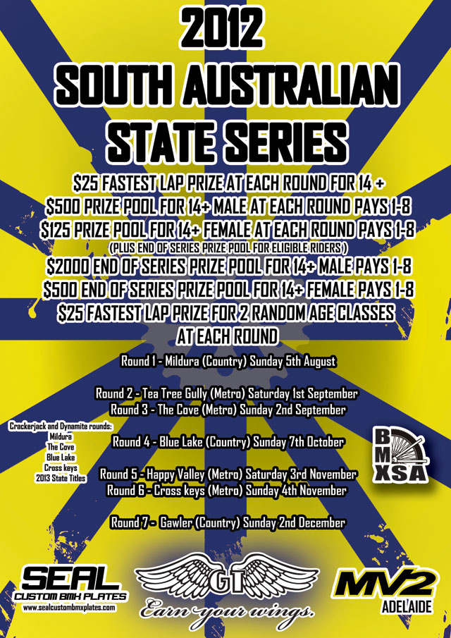BMXSA 2012 State Series