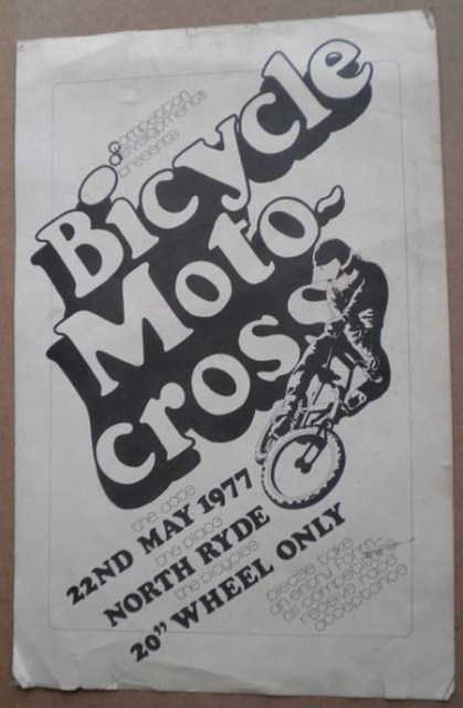 First BMX meeting poster