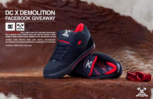 DC X Demolition – Rob Wise Signature Shoe Giveaway