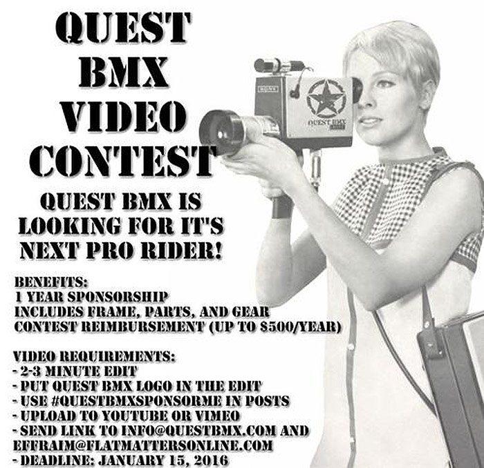 Quest BMX – Sponsor Me Contest