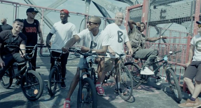 Pharrell, Nigel Sylvester & Crew Take Over NYC