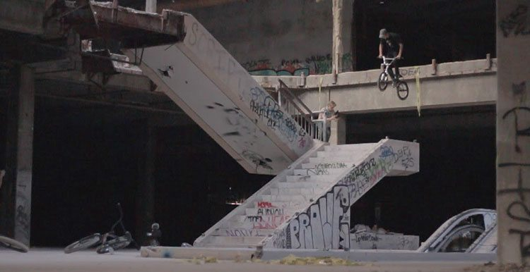 Riding BMX In An Abandoned Mall