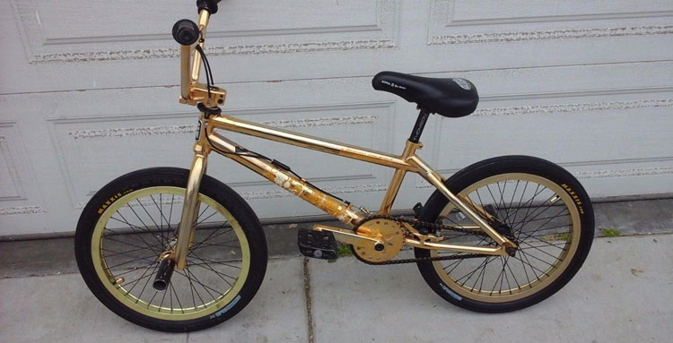 Dave Mirra's 24 Karat Gold Plated Bike On eBay for $50,000?