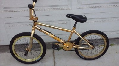 Dave Mirra 24 carat gold BMX bike