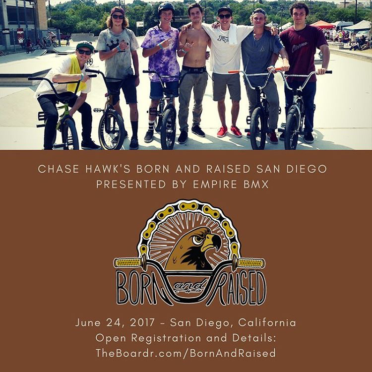 Chase Hawk Born and Raised San Diego BMX