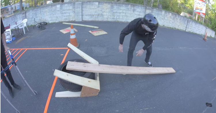 Scotty Cranmer – Ghetto BMX Long Jump Challenge