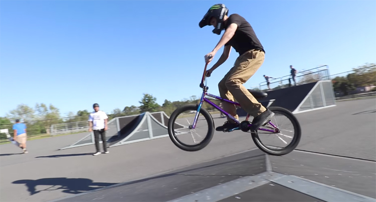 Close Call For Scotty Cranmer At The Skatepark