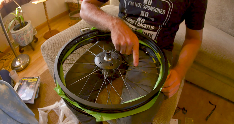How To Lace Up A BMX Wheel With A New Rim