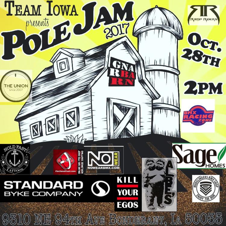 Team Iowa Pole Jam 2017 Gnar Barn Flyer