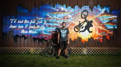Woodward East Nick Sawyers Dave Mirra mural BMX