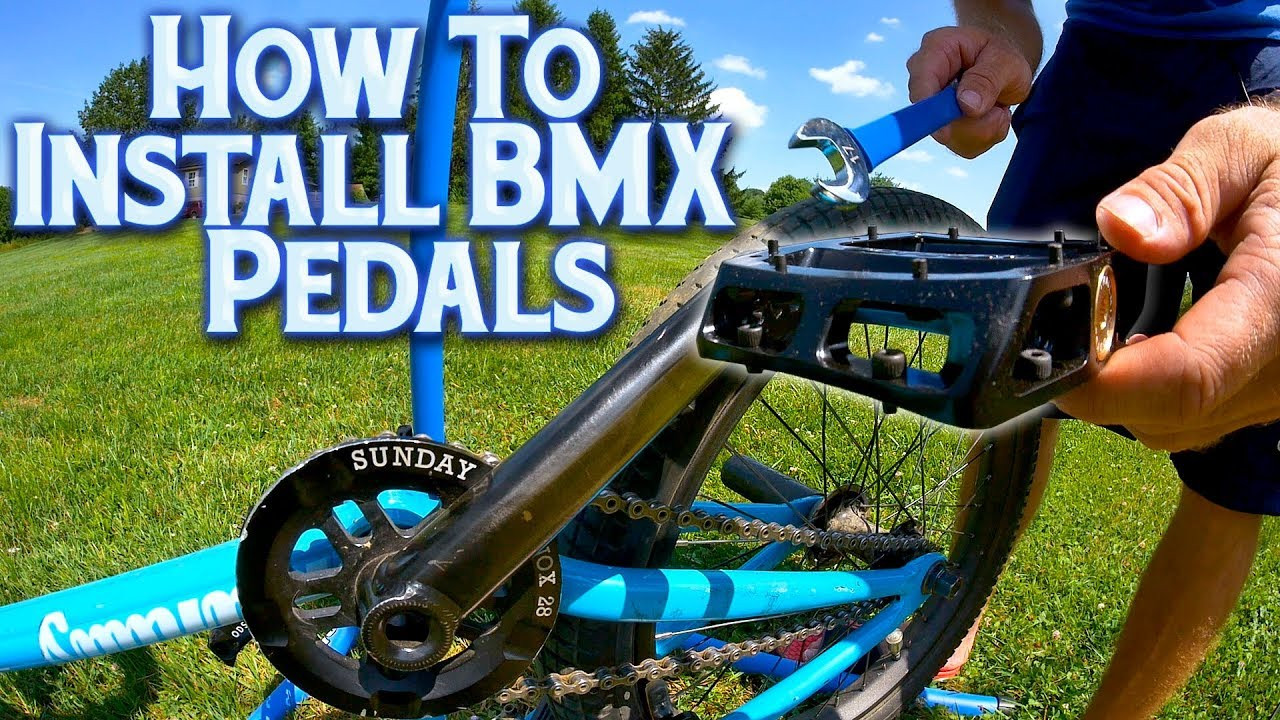 How To Remove and Install BMX Pedals