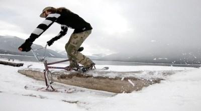 Drifter Snow Bikes Dustin Cyganik BMX video